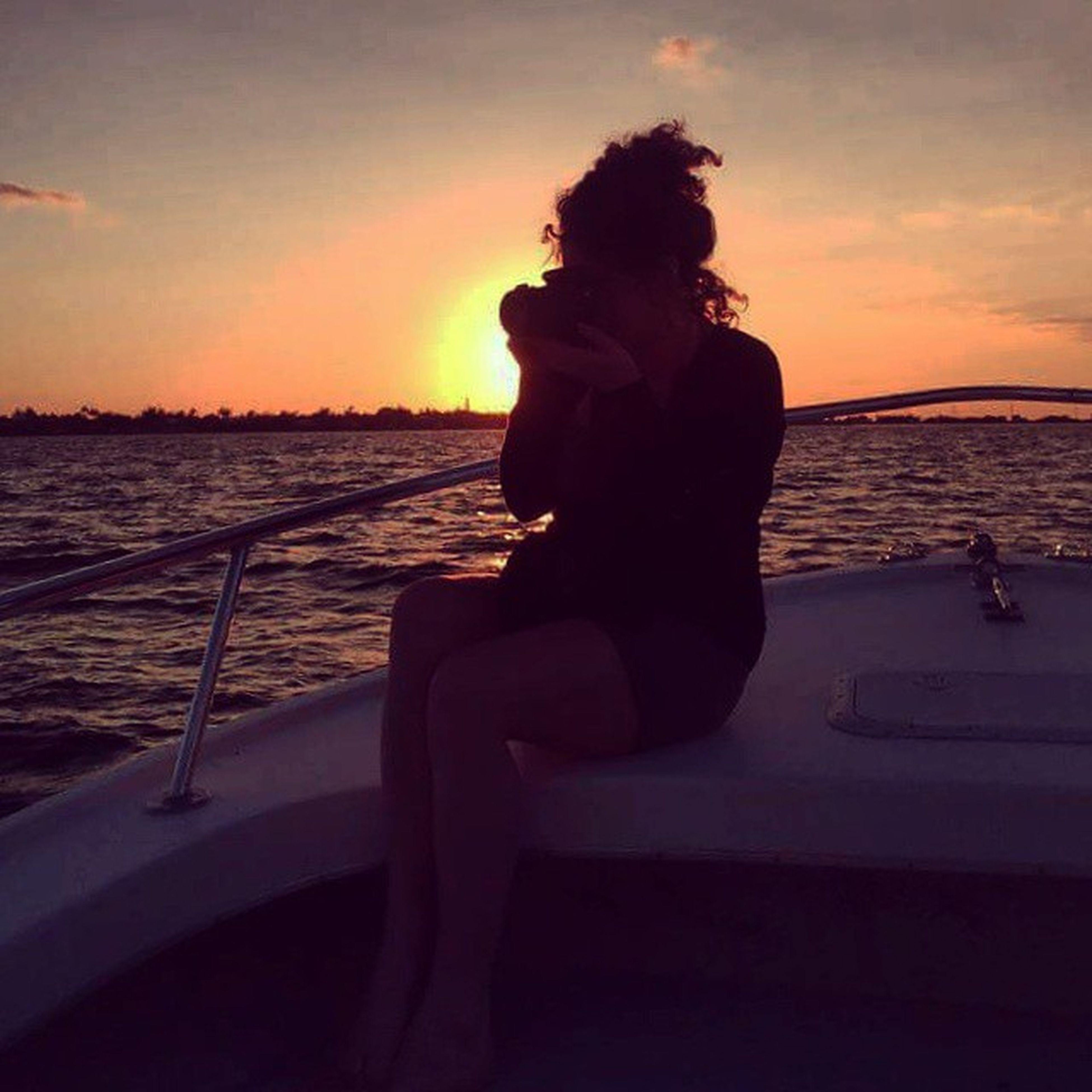 sunset, water, sea, silhouette, sky, orange color, transportation, nautical vessel, sun, mode of transport, scenics, boat, beauty in nature, tranquility, tranquil scene, lifestyles, nature, leisure activity