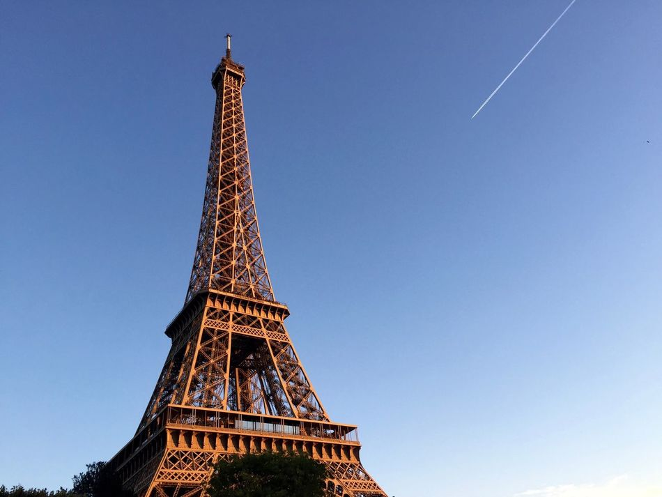 Beautiful stock photos of paris, clear sky, low angle view, no people, tower