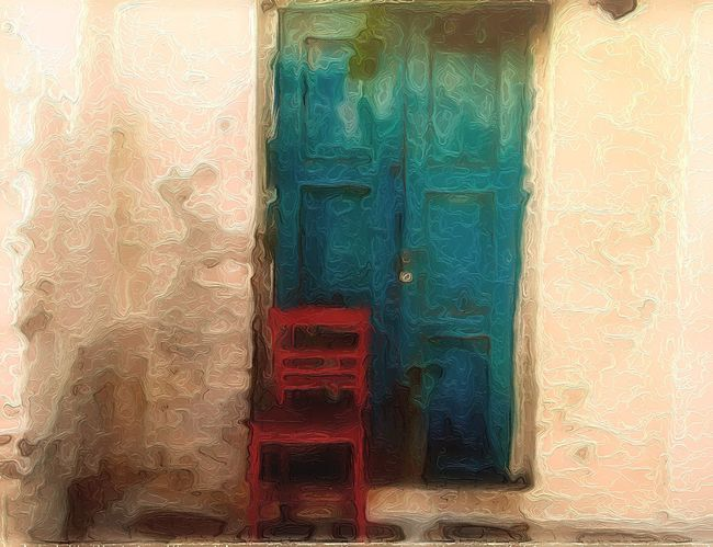 The red chair and the doorway to heaven Red Eye4photography  NEM Memories NEM Painterly The Great Outdoors - 2015 EyeEm Awards The Street Photographer - 2015 EyeEm Awards Doors