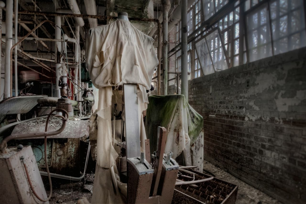 Laundry time. Dress forms for pressing clothes. EyeEm Best Shots Fuzed_decay Abandoned Places EyeEm_abandonment ExploreEverything Urban Exploration Tour_through_desolation Decay Urbex Fuzed_fotos Abandon_seekers