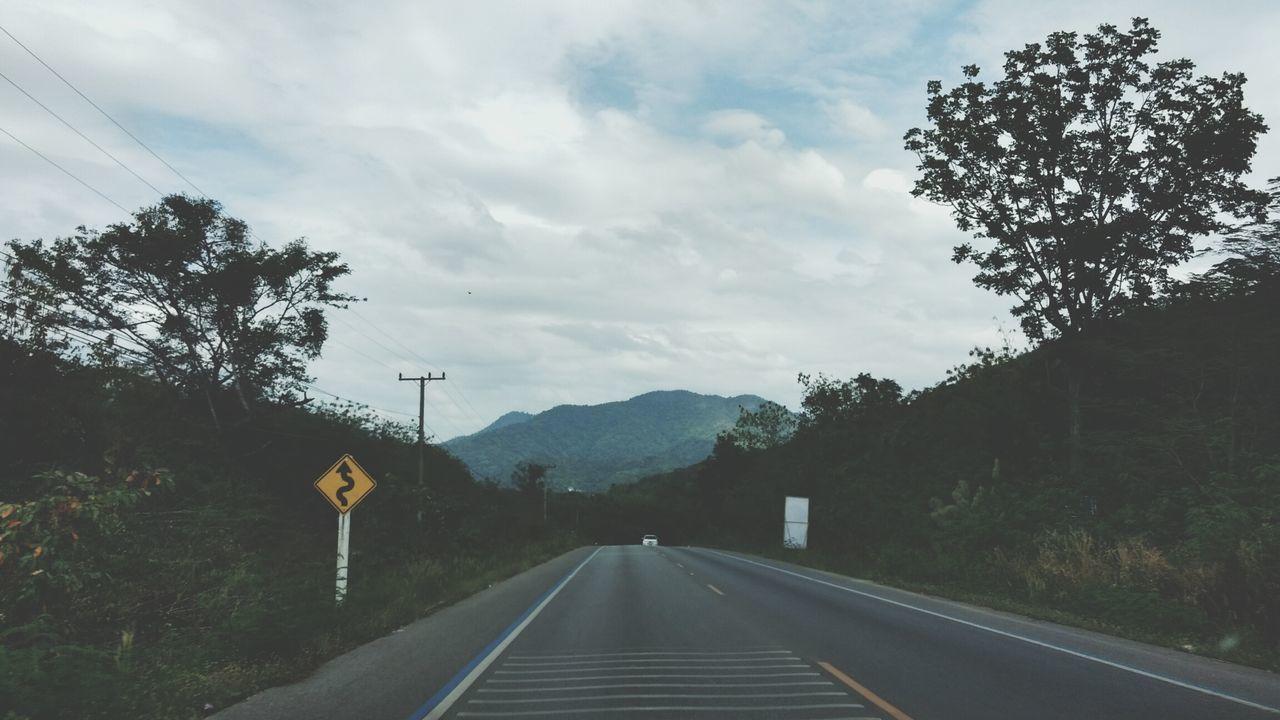 The Way Forward Road Outdoors Sky Day Rainy Day Nakhon Si Thammarat Thailand On The Road