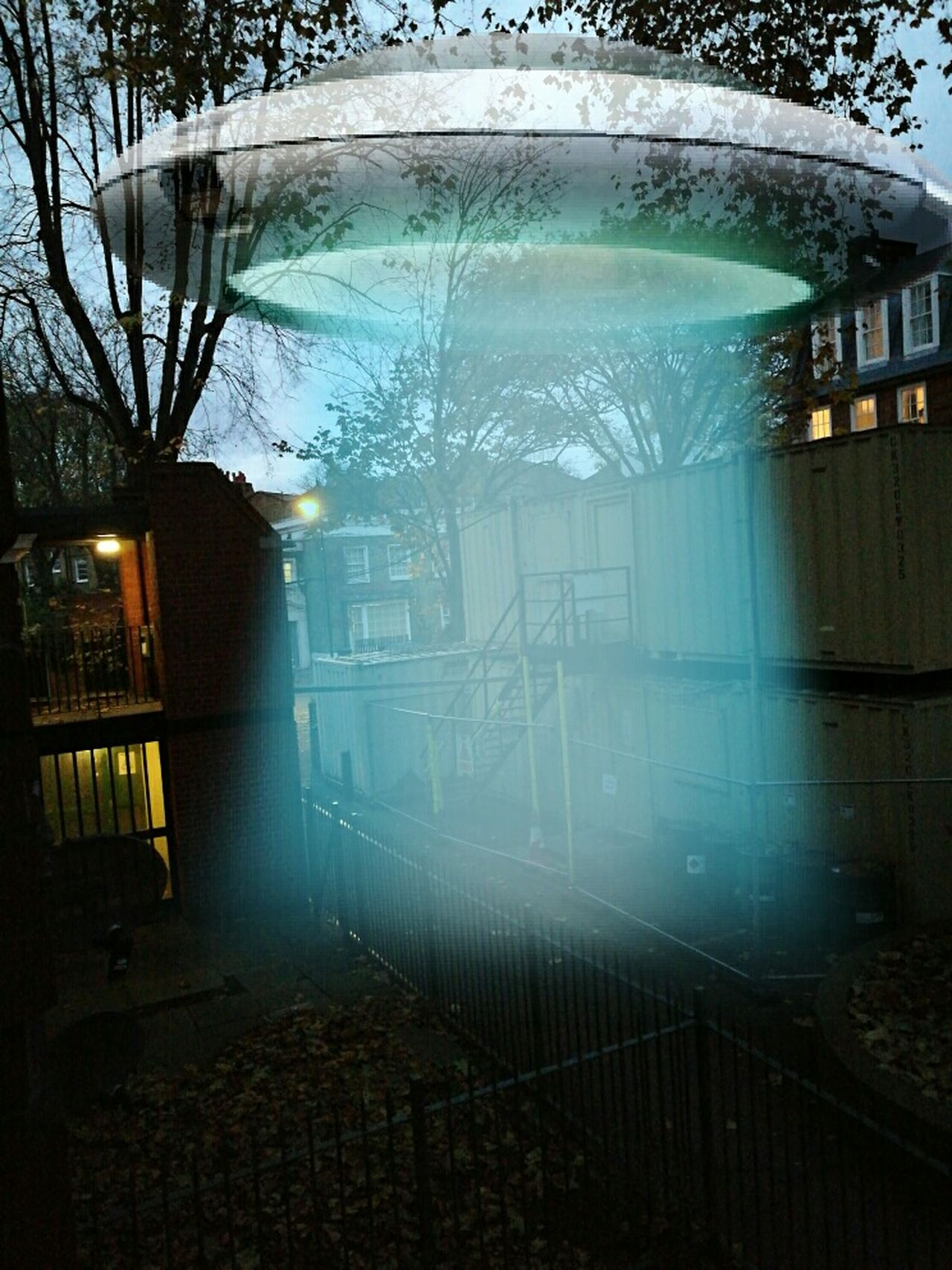 UFO Taking Photos Enjoying Life Life Tranquility LONDON❤ At Home Fantasy Dreaming Alien Invasion Alien Tree Reflection Water No People Day Outdoors Architecture Petrochemical Plant