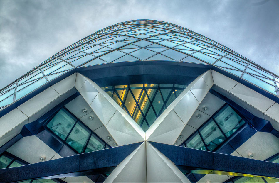 Architecture Building Exterior Built Structure Cloud - Sky Day Dome Futuristic Gherkin Gherkin Tower Low Angle View Modern No People Outdoors Sky Skyscraper