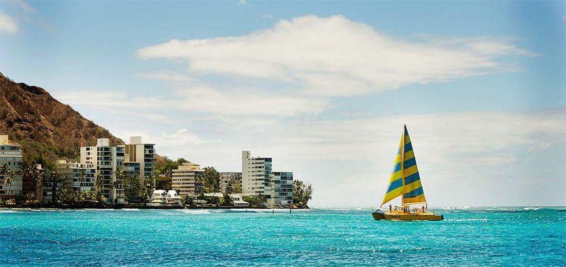 Hawaii No Filter Photoshop Edit Panorama Beautiful Nature Water Photography Waikiki Beach