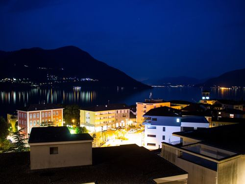 Brissago Night Illuminated Building Exterior Architecture Built Structure Sky Mountain No People House Sea Outdoors Water Scenics City Nature Beauty In Nature