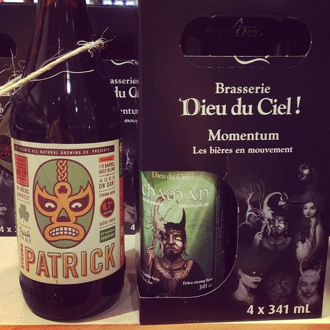 Today is a good day at the LCBO. Strong Patrick, and a new brew from Dieu du Ciel.