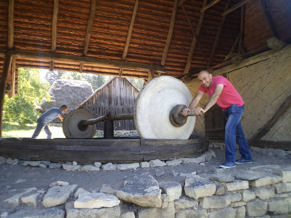 Brothers Happy Stone Whells Old Oil Press