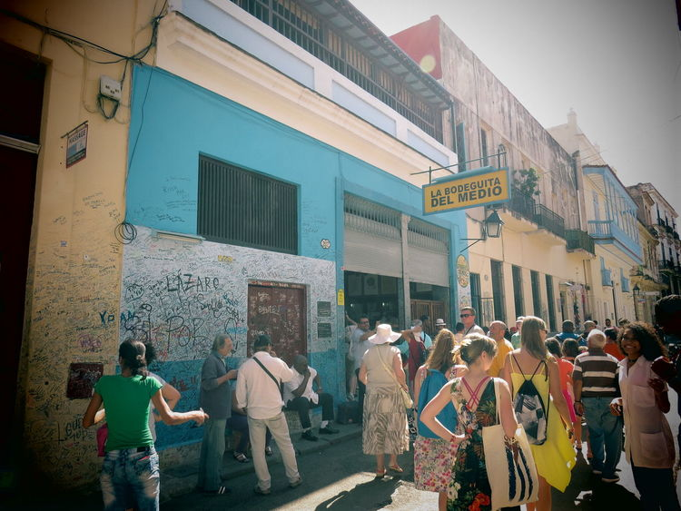 The Week On EyeEm Architecture Building Exterior Built Structure City Day La Bodeguita Del Medio Large Group Of People Men Outdoors People Real People Sky Standing Women