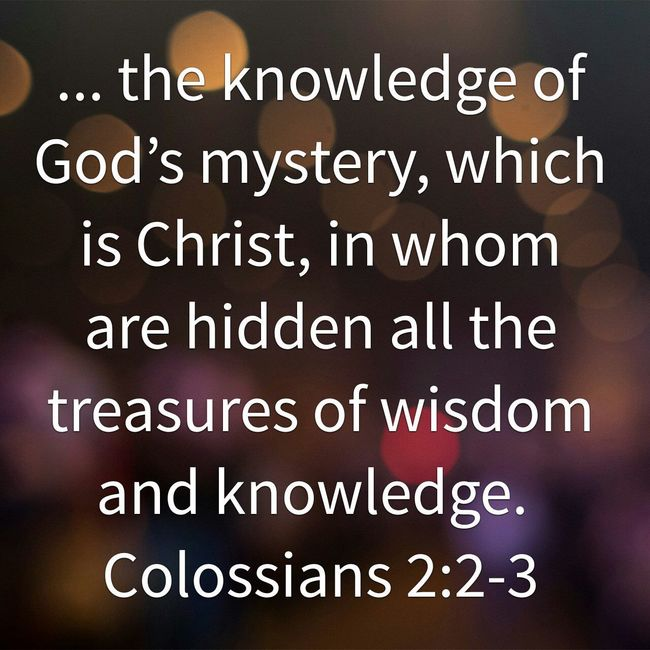 Treasures Wisdom Knowledge Christ