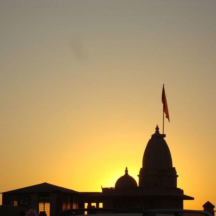 Sun set behind the temple Sun Sunset Temple Beautiful Insta Digicam Camera Click Photography Instagood Shade Beachday Gujarat Travel Foreonedits