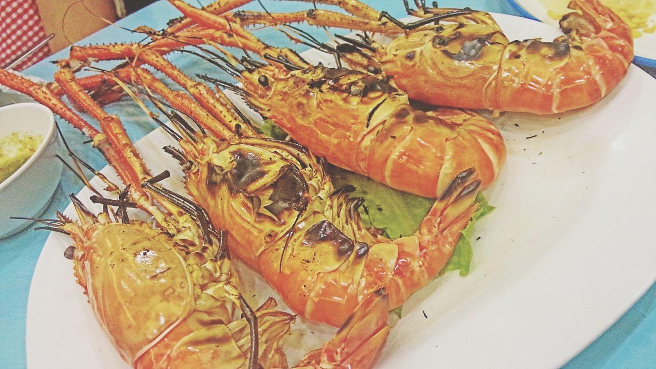 กุ้ง กุ๊ง ตัวโต๊โต Eating Dinner Seafood