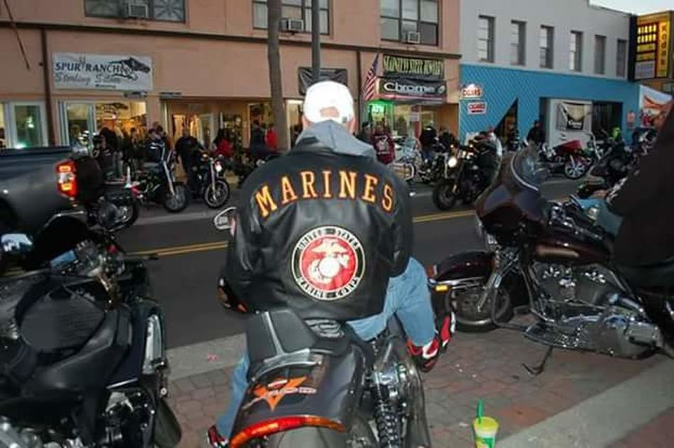 Bike Week 2017 Adult Adults Only Bike Week 2017 Biker Building Exterior City Crowd Day Devil Dog EyeEm Diversity EyeEmNewHere Harleydavidson Large Group Of People Law Leather Neck Motorcycle Only Men Outdoors People Police Force Police Uniform Protestor RespectforVets Riot USMC