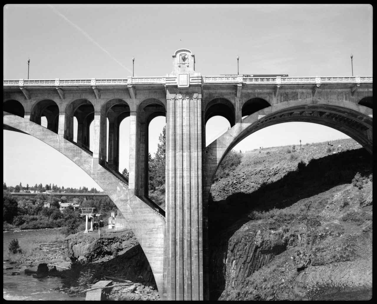 Spokane Water Company American Architecture Americana Architecture Bridge Concrete Bridge Energy Force Of Water Great Bridge Great Bridge Hydroenergy Nature No People Spokane Spokane Bridge Spokane Water Company Stone Bridge Travel Washington State Waterfall