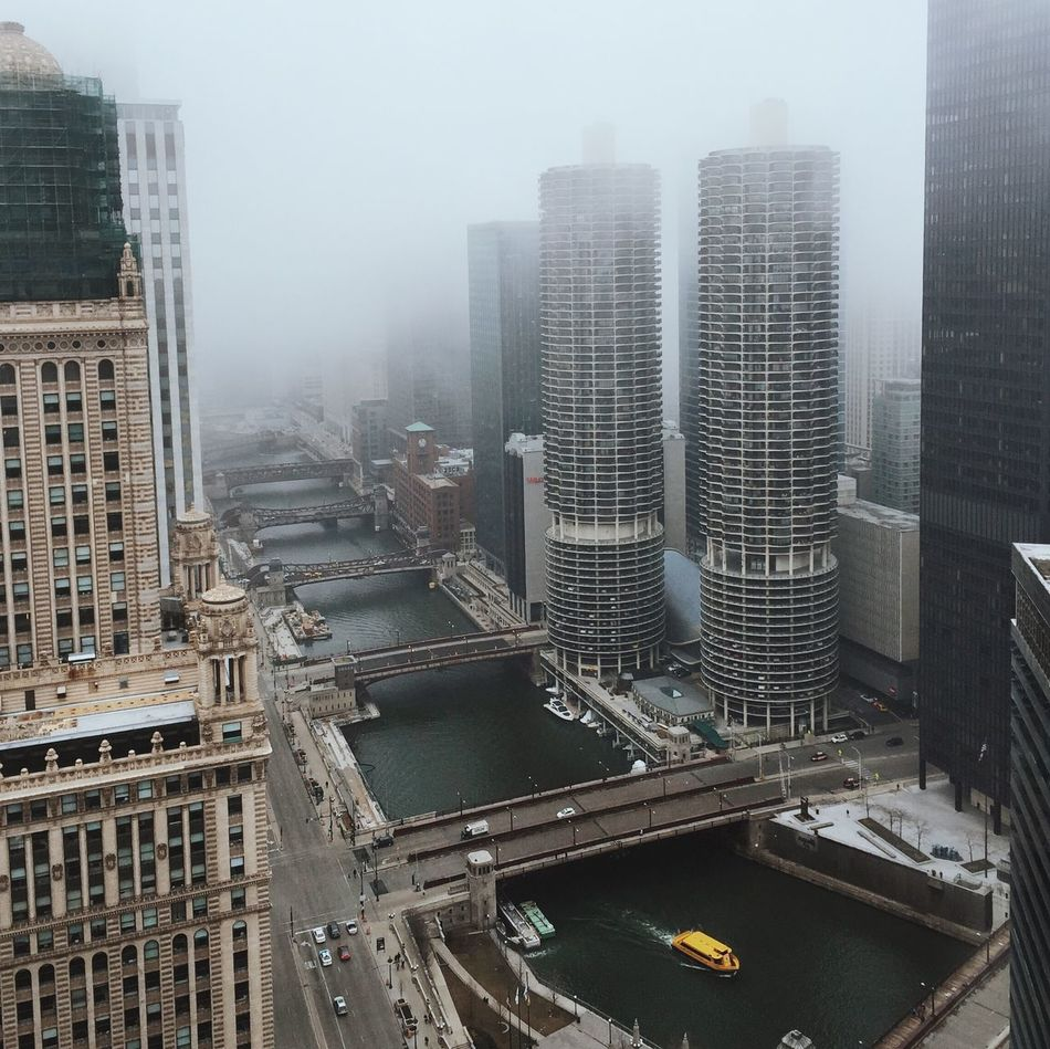 Beautiful stock photos of chicago skyline, Architecture, Boat, Bridge - Man Made Structure, Building Exterior
