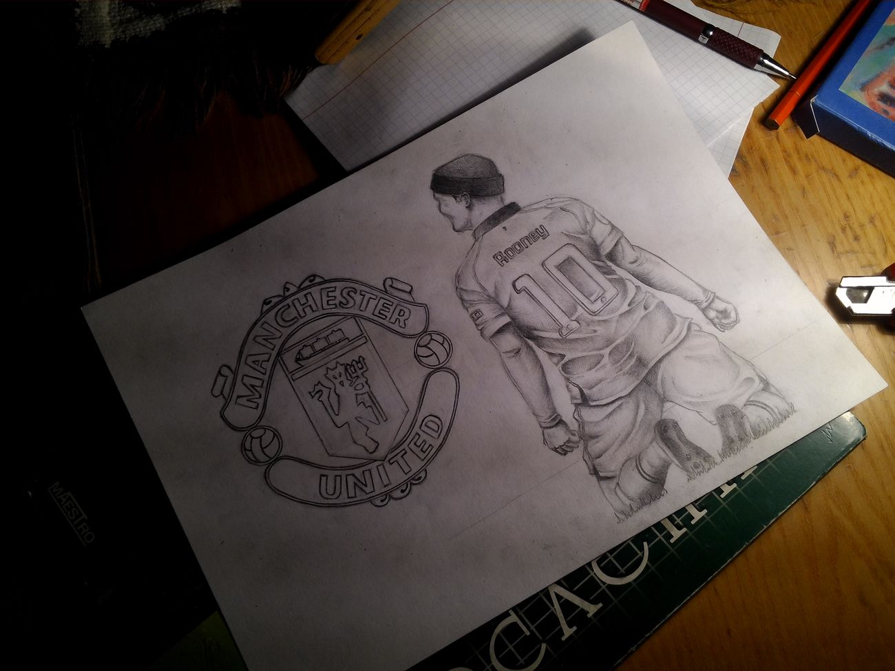 MU Art Waynerooney Manchesterunited