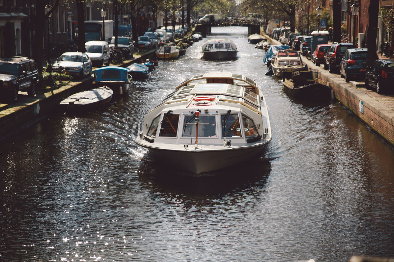 2016 April Boat Canal Canals City City Life Day Mode Of Transport Nature Nautical Vessel No People Outdoors Rippled Spring Transportation Travel Destinations Water Your Amsterdam EyeEm X Google - Your Amsterdam