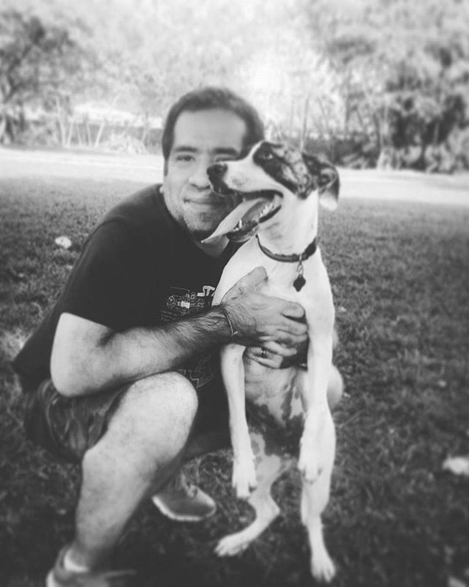 Sweetpic Aguyandhisbestfriend Blackandwhite Sundaypic ❤😀 my loves at the park