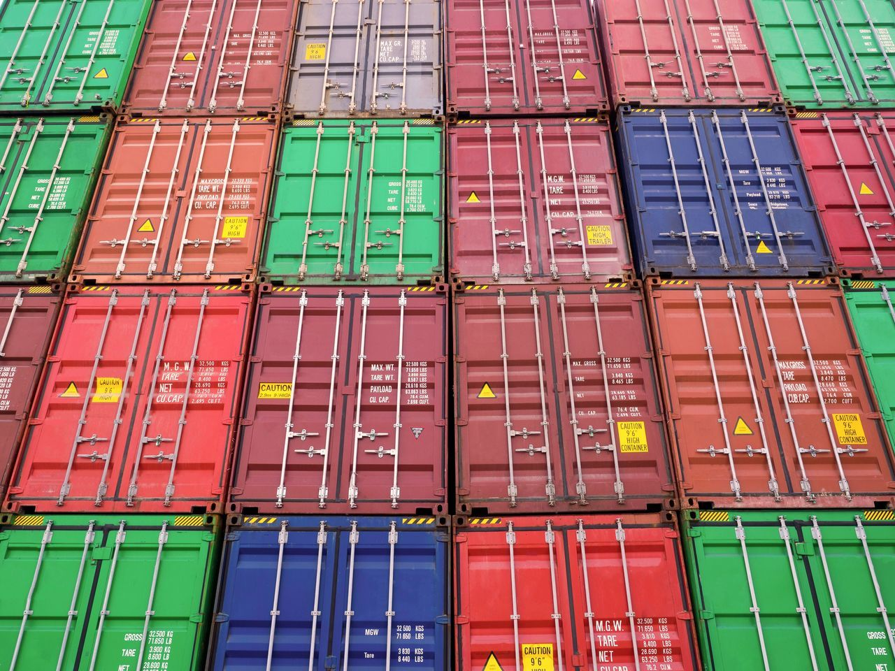 Cargo Container Container Freight Transportation Abundance Commercial Dock Shipping  Stack Aerial View Trading Pattern In A Row Business Large Group Of Objects Shipyard Outdoors Industry Harbor Container Ship Day