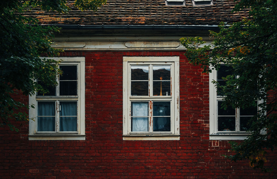 Windows in the dutch quarter in Potsdam Architecture Berlin Brandenburg Brick Wall Building Exterior Built Structure Day Dutch Quarter Eastgermany Germany Historical Landmarkbuildings No People Old Buildings Outdoors Plant Potsdam Red Tourism Destination Tree White Window