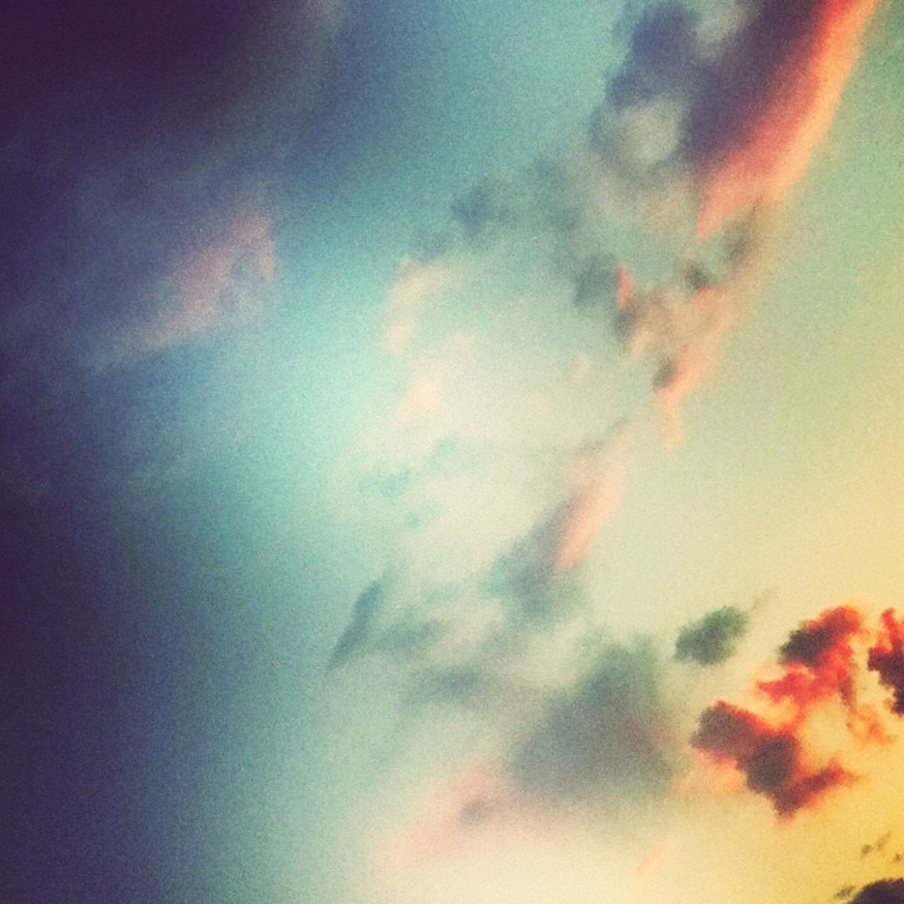 sky, cloud - sky, nature, beauty in nature, low angle view, scenics, multi colored, cloudscape, tranquil scene, no people, sunset, sky only, outdoors, tranquility, abstract, backgrounds, day
