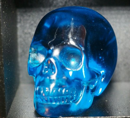 Blue Close-up Carved Crystal Skull Skulls💀 Skull Healing Realistic Gemstone  Crystal Skulls Crystal Skull Beautiful Skull Art Skulls Skullporn My Skulls Blue Obsidian 2.0inch Blue Beautiful Blue Beauty