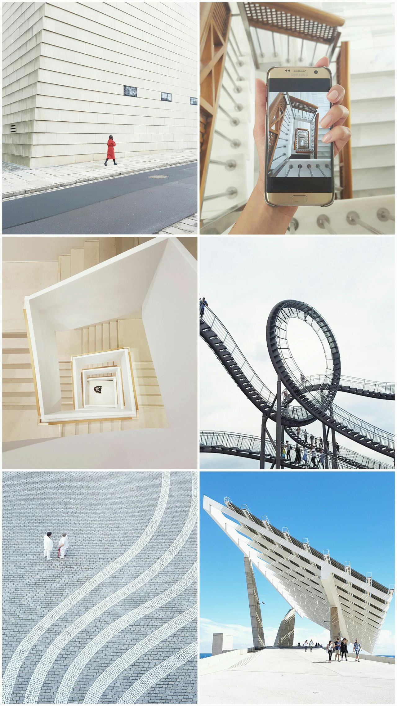 My photos. My view. My 2016. Modern Architecture People Minimalism Travelling Mobilephone Samsung Stairs Spiral Staircase Holding A Phone Facades Walls My 2016 Cobblestone Photo Collage Urban Geometry Houses Close-up Happiness Streetphotography Talking To People Taking Photos Barcelona Dresden Bonn