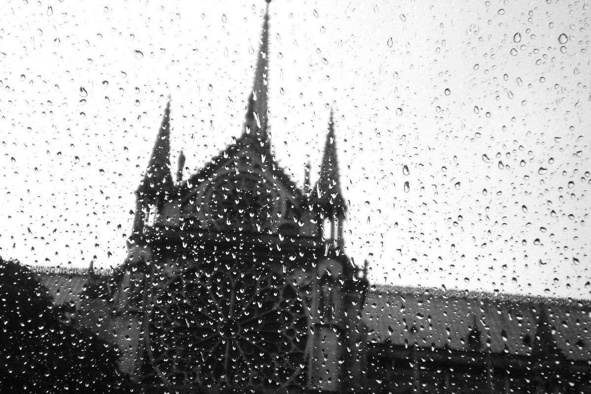 Blackandwhitephotography From My Perspective Eyeemphotography Black And White Photography Eye4photography  Rainy Day Rainy Drops Things I Like Notre Dame De Paris Paris, France  Relaxing Black And White Rainy Window Blackandwhite Photography From My Point Of View Architecture EyeEm Gallery Check This Out Paris Blackandwhite Window View View Taking Photos Tourist Destination Monument