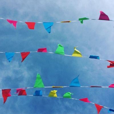 Catch me if you can 🎏💙 Cloudbusting Skylovers Lovecornwall Clouds And Sky EyeEm Best Shots Outdoor Photography Showcase April Outdoors Cornwall Uk Cornwall Life Springtime Shootermag Sky_collection Catchmeifyoucan Bunting Love Bunting