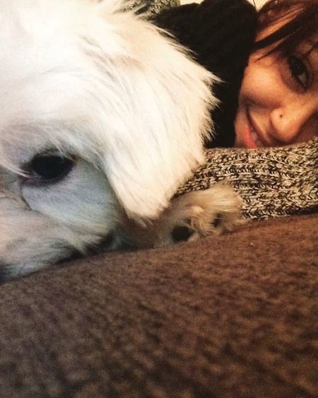 Puppy Love Dog Love Cuddling Hanging Out That's Me Withmydog  Tbt ❤ Smile Happy Selfie 🐶❤️