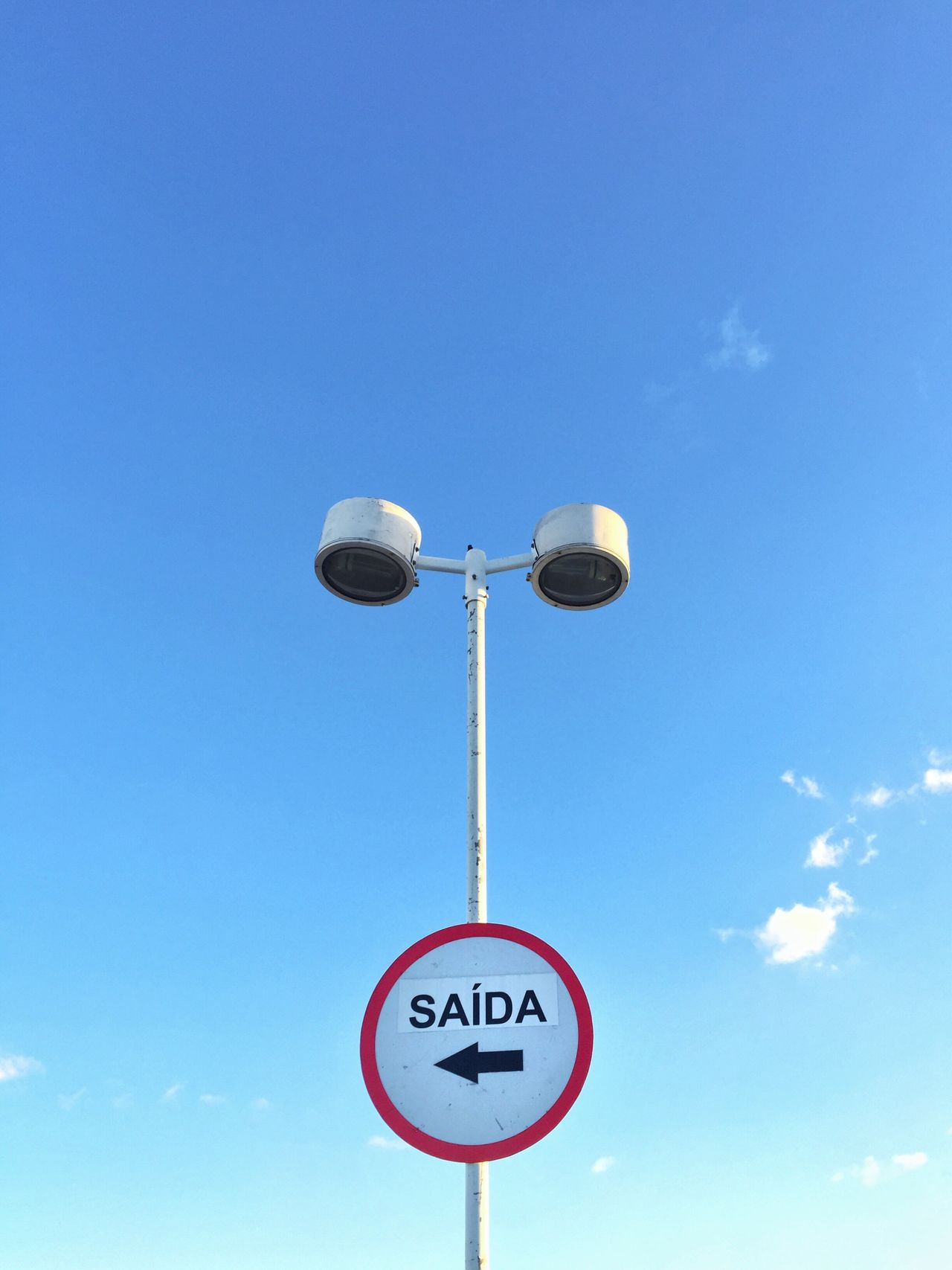 Blue Low Angle View Day Communication No People Guidance Sky Road Sign Outdoors Minimalism Minimal Minimalobsession