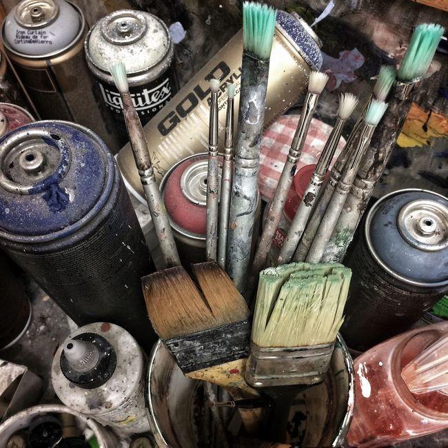Artist Artist Tools Paint Painting Tools Paint Brushes Spraypaint Aerosol Messy Colours Multi Colored