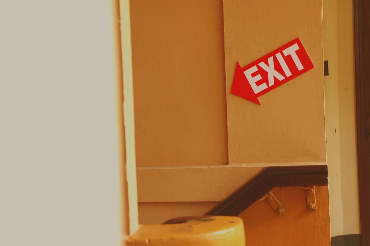 communication, text, door, guidance, yellow, indoors, no people, red, day, close-up, occupational safety and health