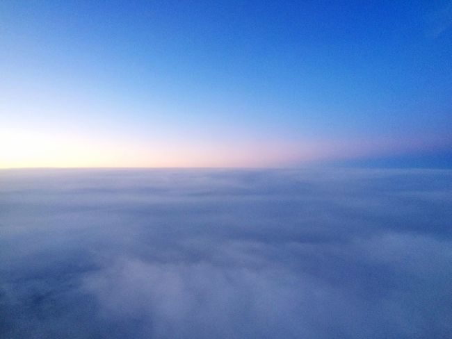 Pastel Skies From An Airplane Window Travel Stories