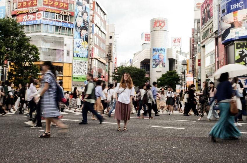 City City Life Large Group Of People Shibuya Tokyo Street Tokyo Street Photography Japan Fashion Pedestrians Crosswalks