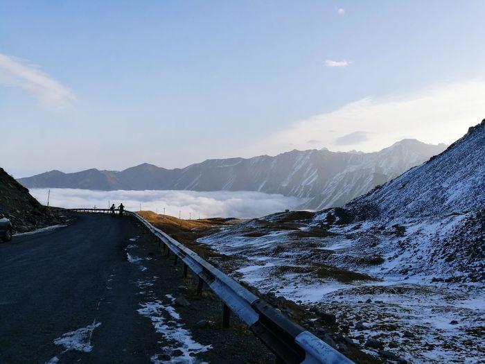EyeEm Selects Mountain Landscape Mountain Range Cold Temperature Snow Sky Nature Beauty In Nature No People Almaty, Kazakhstan Almaty1love Kazakhstan🇰🇿