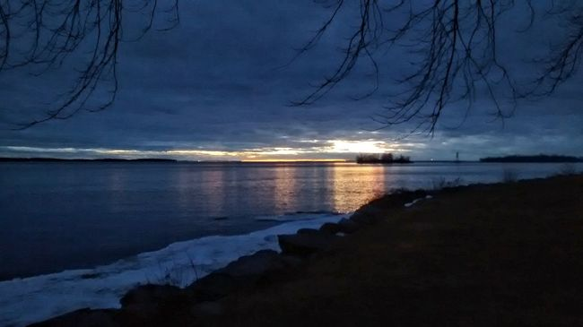 Lachine Sunset Winter Peace And Quiet
