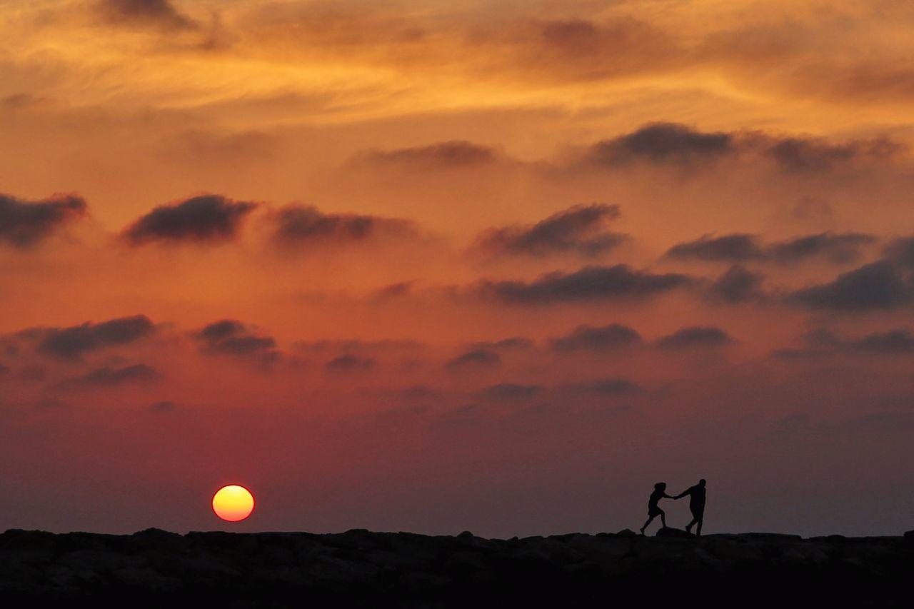 The Great Outdoors - 2017 EyeEm Awards Sunset Silhouette Orange Color Sky Landscape Outdoors EyeEm Week EyeEm Nature Lover EyeEm Best Shots Eyeemphotography Eyeemweek Eyeem4photography EyeEm Silhouette