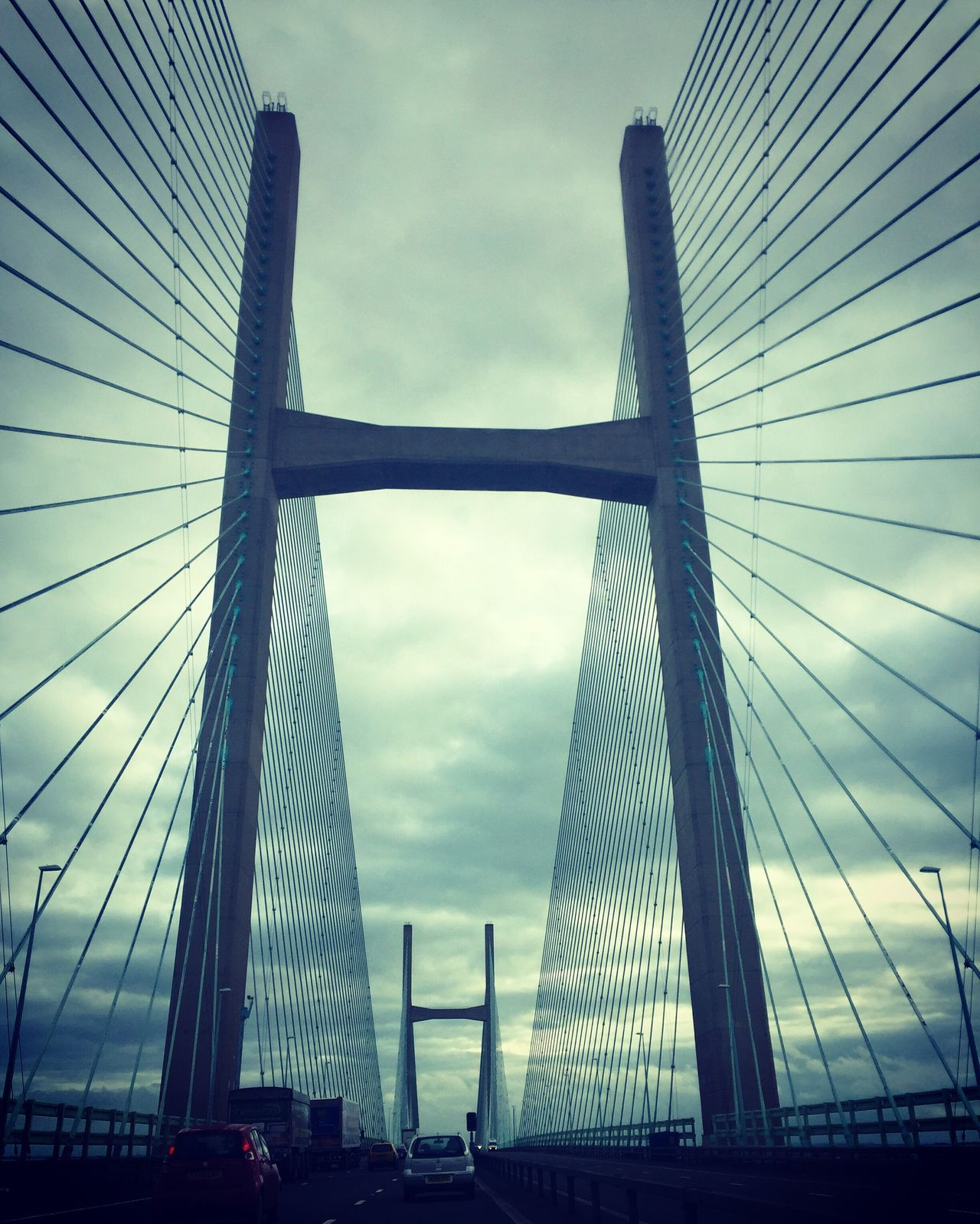 Second Severn Crossing Engineering Bridge Wales England River River Severn United Kingdom Road