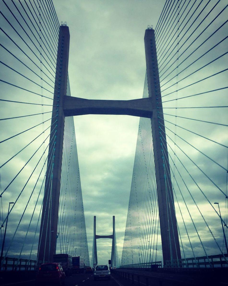 Second Severn Crossing Engineering Bridge Wales England River River Severn United Kingdom Road