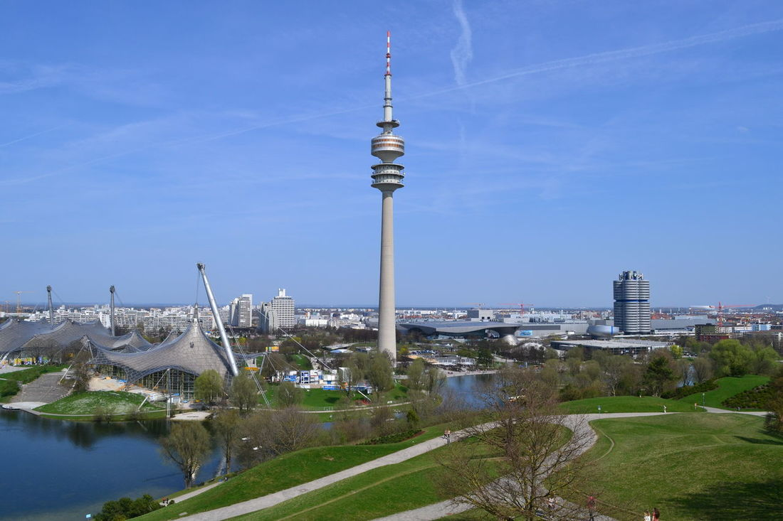 Nikon NikonD7100 Olympiastadion München Architecture Building Exterior Built Structure City Cityscape Communication Day First Eyeem Photo Nikonphotographer No People Olympiapark München Outdoors Sky Tower Water
