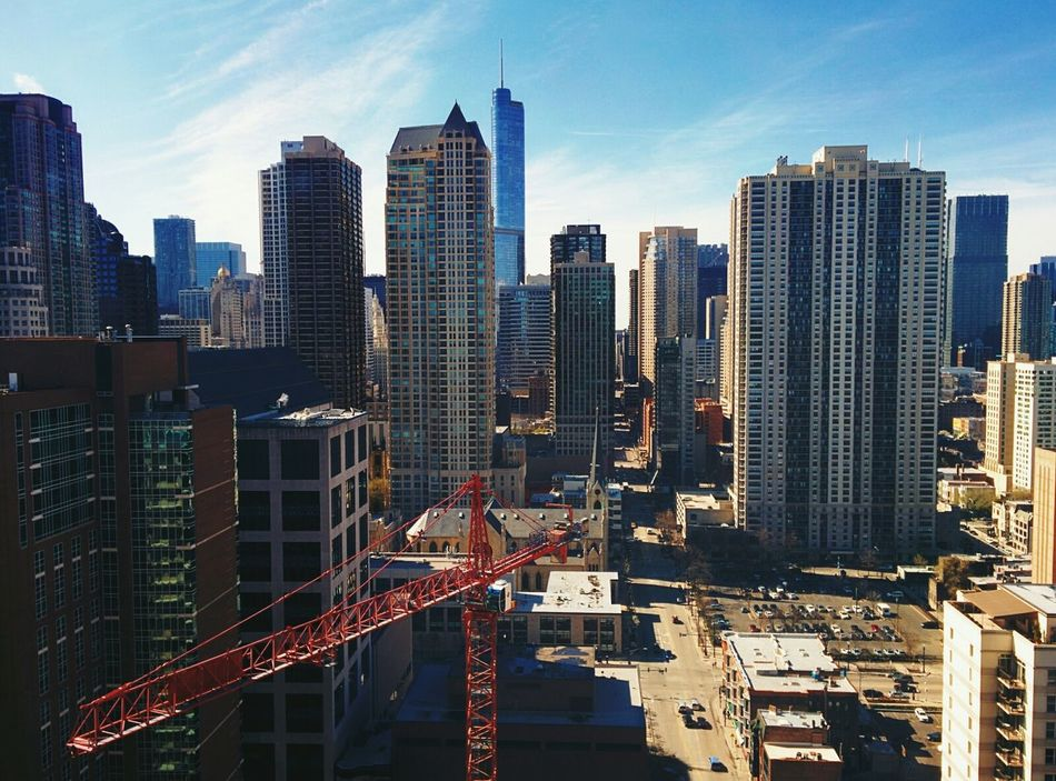 Beautiful stock photos of chicago skyline, Aerial View, Architecture, Building Exterior, Built Structure