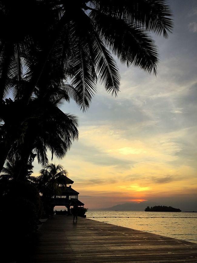 Beach Seaside Philippines Sunset Parola Lighthouse