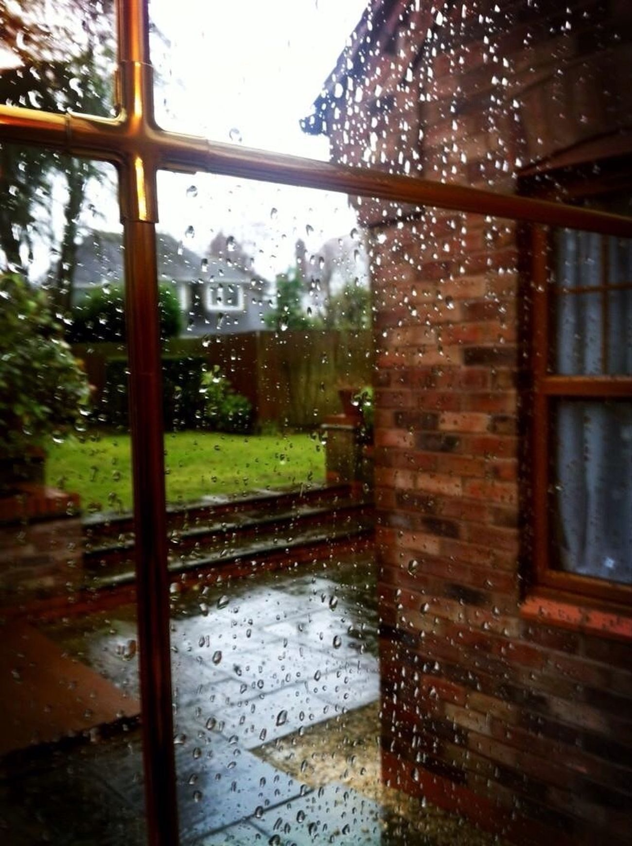 England, always raining.