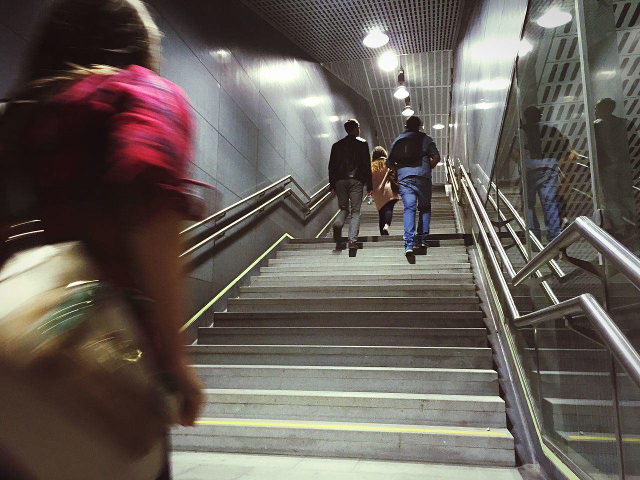 Stairs People Night Subway