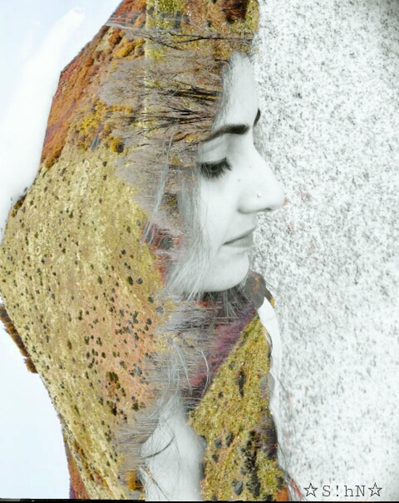 Freetoedit Self Portrait Drawstepbystep Double Exposure MYArtwork❤ Multiple Exposures Texture Artisticselfie