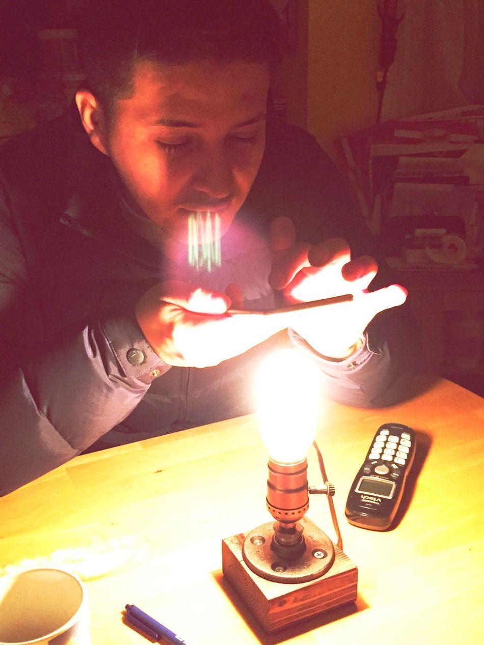 Boyfriend loving his new gift ? ChristmasGift Edisonlamp Light
