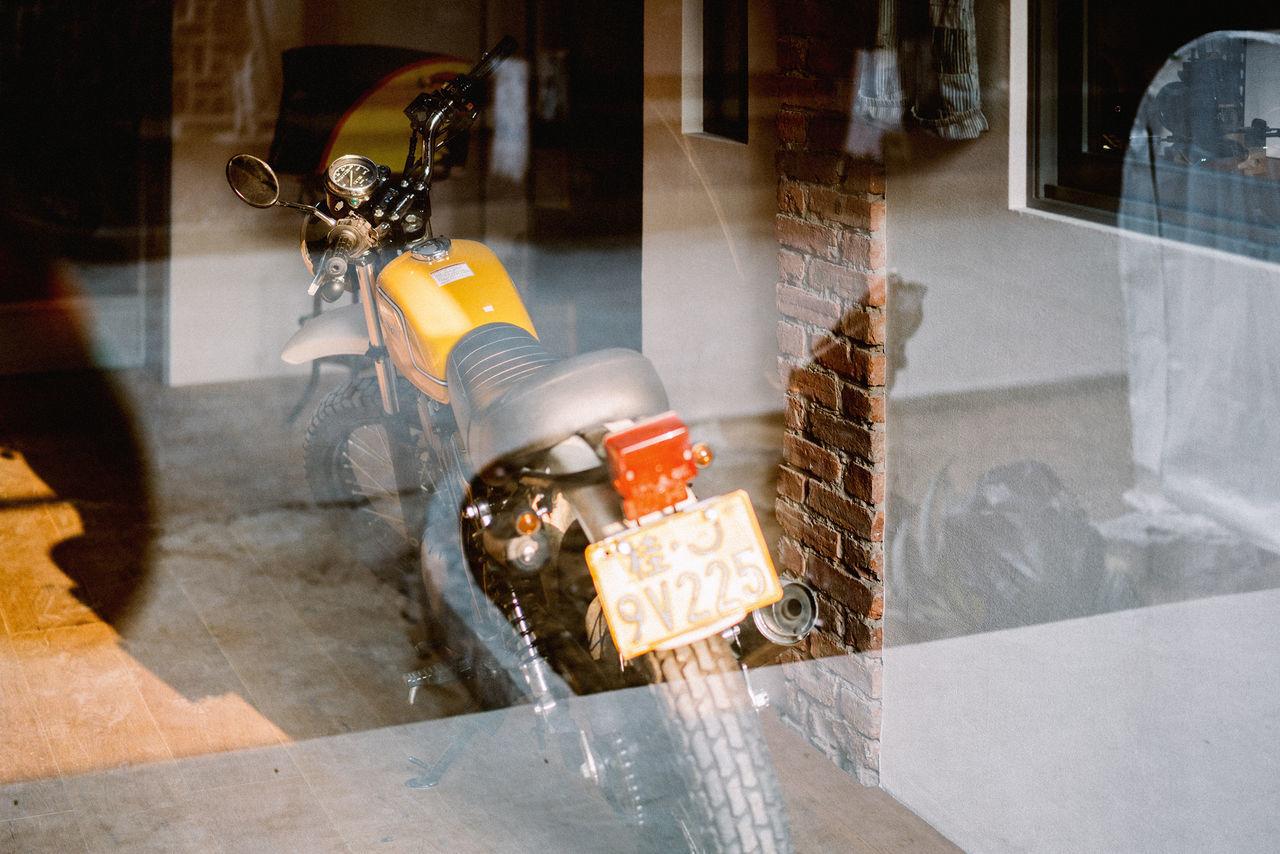 Day Indoors  Kawasaki Light And Shadow Motorcycle No People