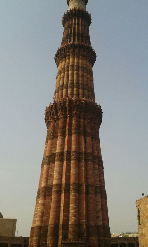 Qutab Minar Delhi History Architecture Travel Destinations Travel Architectural Column Tourism Old Ruin Built Structure Tower Monument City Day Vacations Building Exterior