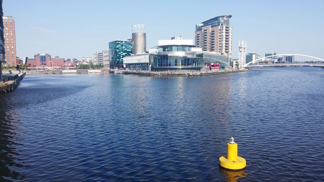 Salford Quays Salford Salford Media City Water Water Reflections Lowry