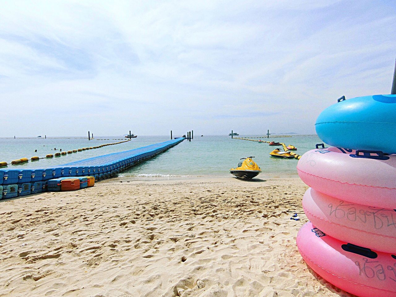 Sea Beach Water Sand Sky Nautical Vessel Beauty In Nature Shore Nature Tranquil Scene Scenics Horizon Over Water Mode Of Transport Tranquility Moored Outdoors Day No People Outrigger